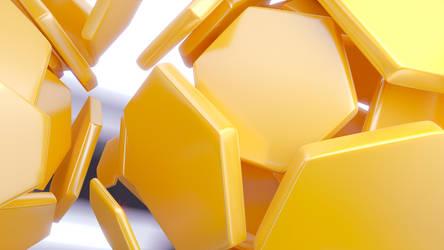 Plastic Hexagons by sheldiner