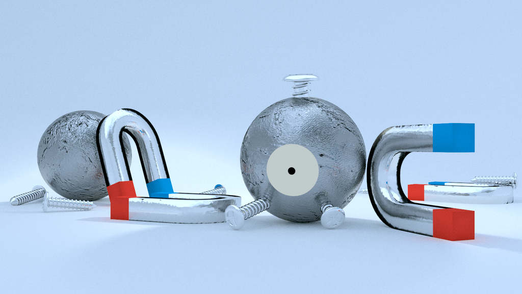 Pokemon Render: Magnemite by sheldiner
