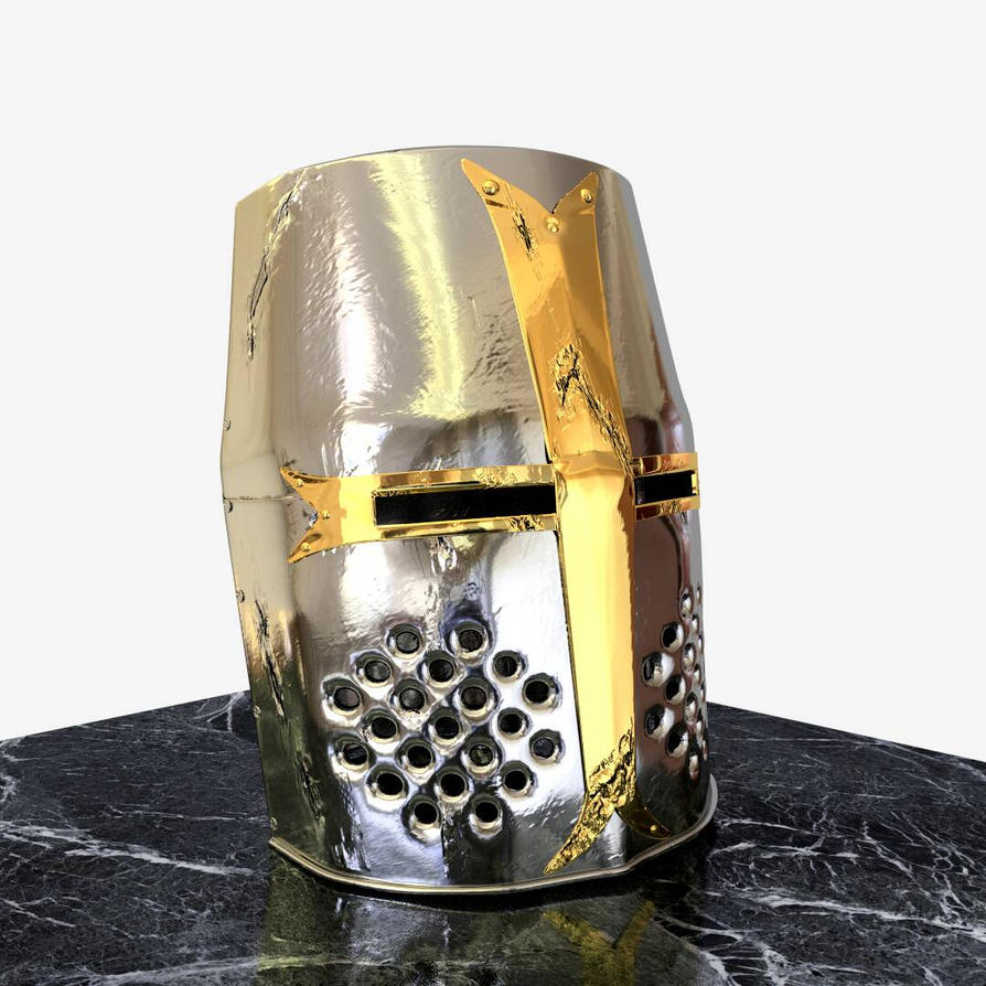 Medieval Knight Helmet by sheldiner