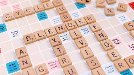 Scrabble board - Blender 3D Render by sheldiner