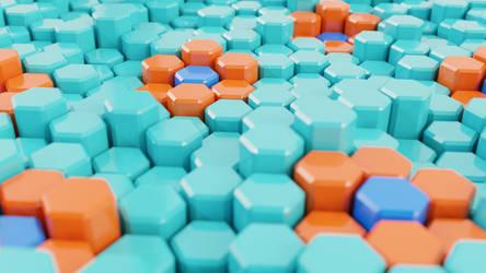 Hexagons - Blender 3D by sheldiner