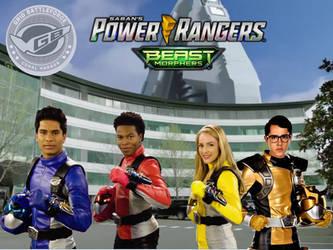 Power Rangers Beast Morphers Helmets Off Cast by ThePeoplesLima