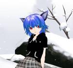 blue cat girl
