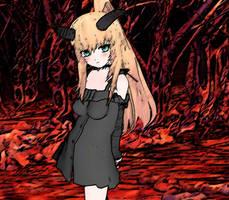 Dark and cute Youkai by KitsuneYin