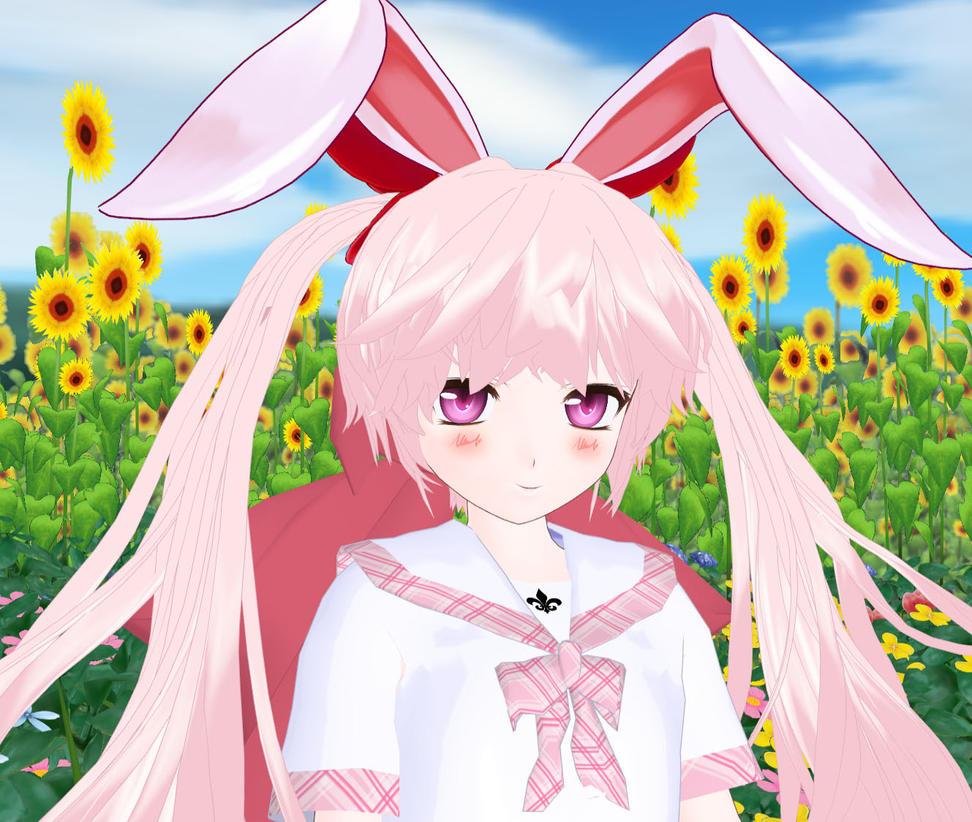 Just smile Little broken Bunny by KitsuneYin