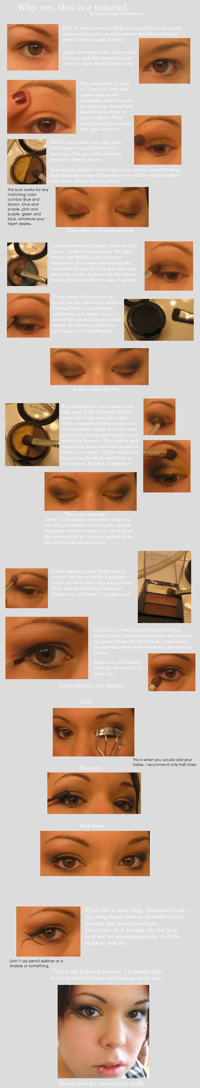 Golden Makeup Tutorial by DSmakeup