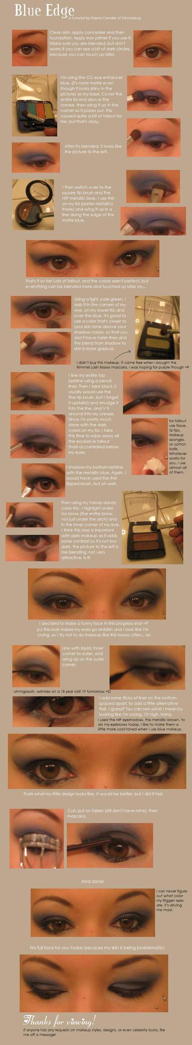 Blue Edge Makeup Tutorial by DSmakeup