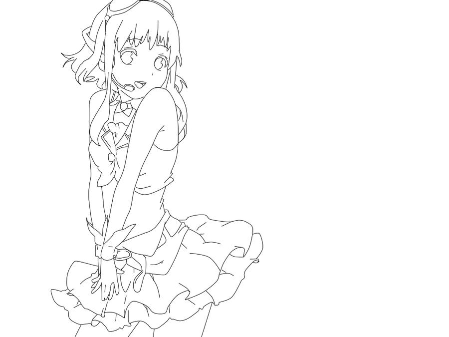 GUMI lineart by Lauraichigoo on DeviantArt