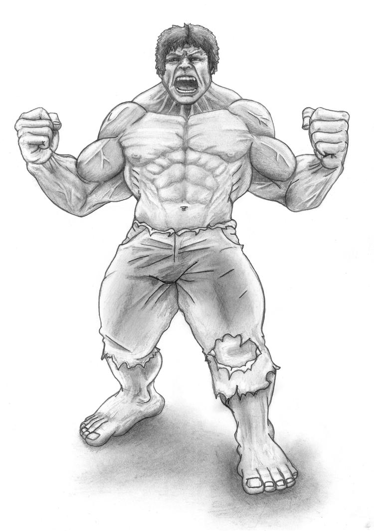 Incredible Hulk Black And White Drawing Images amp Pictures