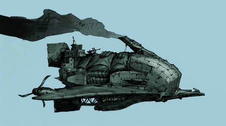 Steampunk Pirateship by Jastorama