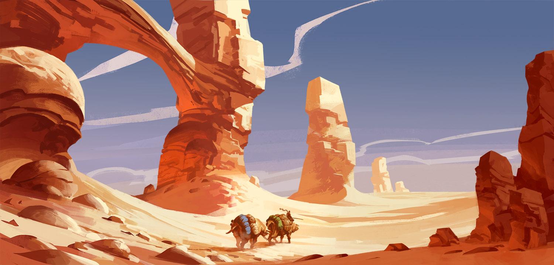 Desert Caravan by Jastorama