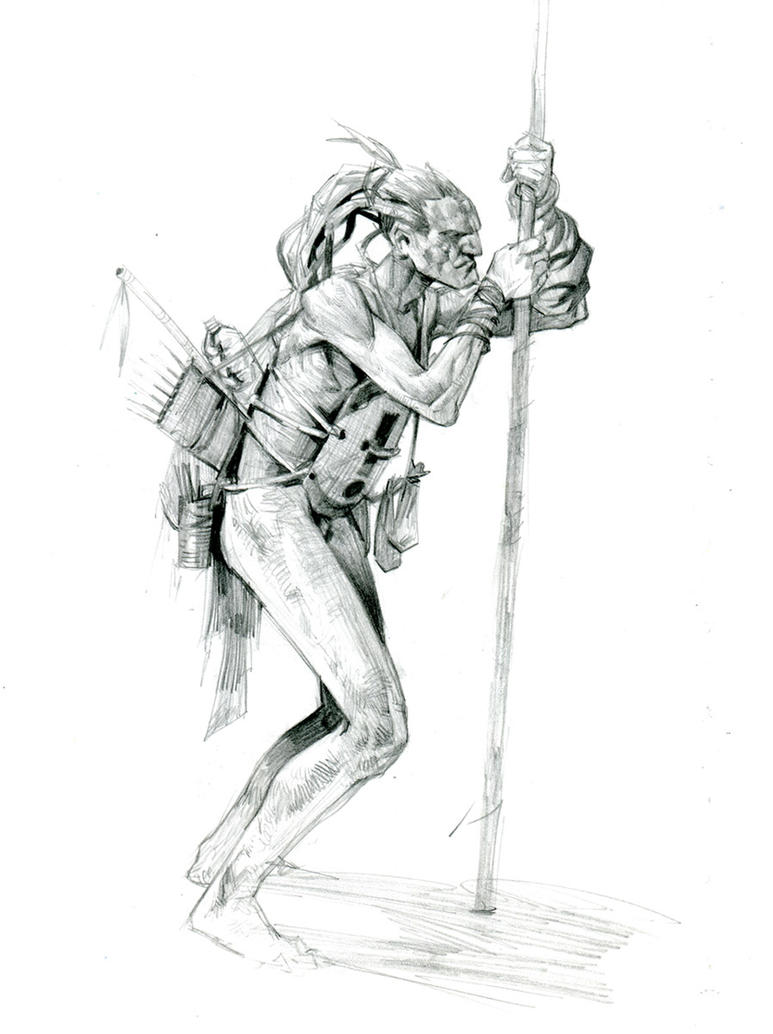 tribal hunter by Jastorama