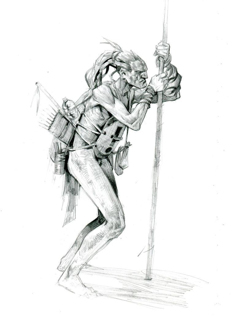 tribal hunter by Jastorama