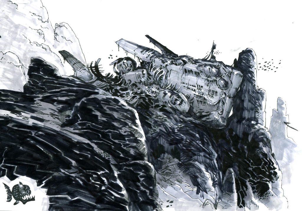 sunken submarine by Jastorama