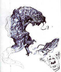 lizart sketchbook page by Jastorama