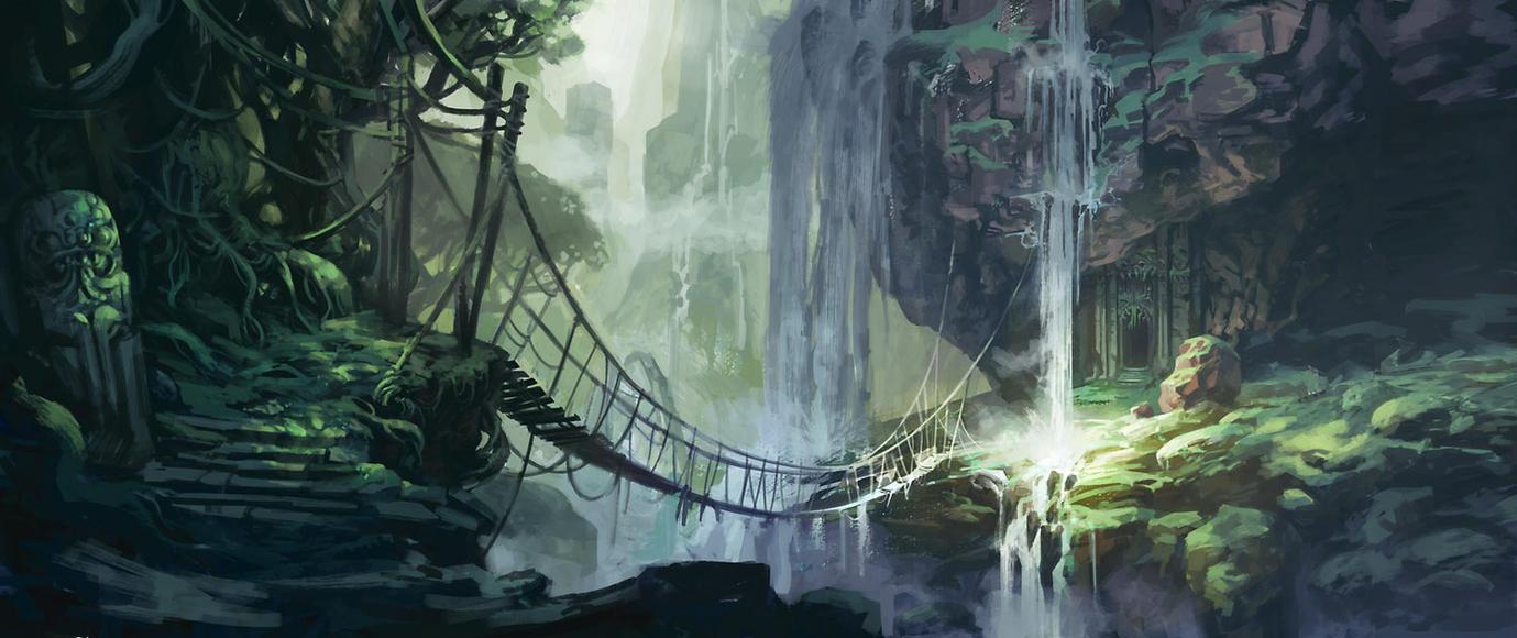 Jungle bridge by jastorama on deviantart - Fantasy wallpaper bridge ...