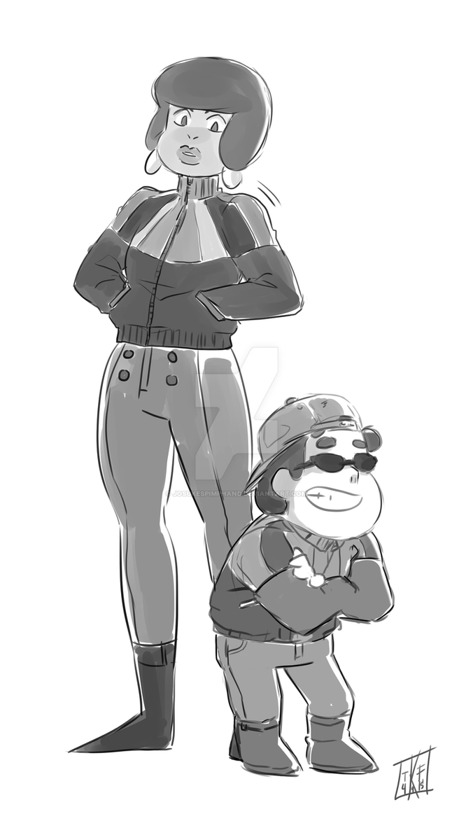 Old Jenny Pizza and little Steven doodle from a few months ago hehe. josukespimphand.tumblr.com/pos…