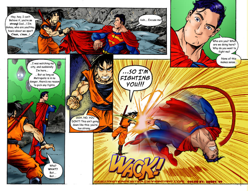 Deviantart More Like Fane   Goku Vs Superman Science