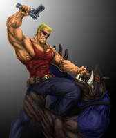 Duke VS Pig Cop (The last Duke fan art, probably) by Finfr0sk