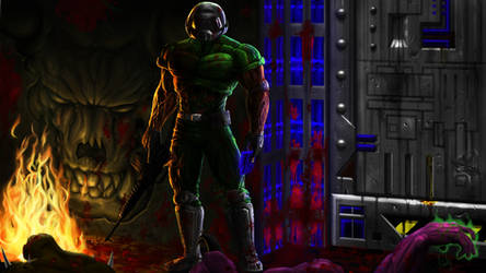 Brutal Doomguy Standing Tall by Finfr0sk