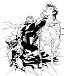 Superman Batman 42 cover inks