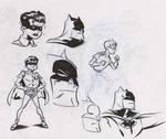 Batman and Robin Warmups by dfridolfs