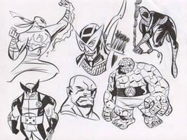 Avengers Warmups 1