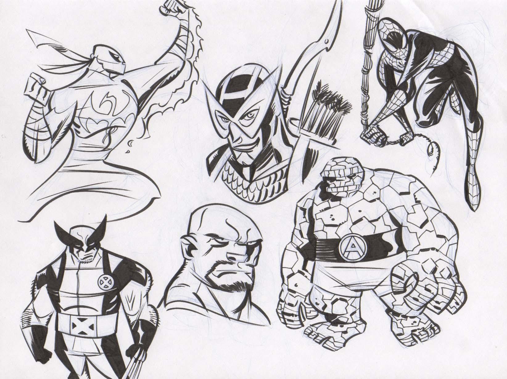 Avengers Warmups 1 by dfridolfs