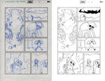 ADVENTURE TIME ANNUAL pencil to ink 2