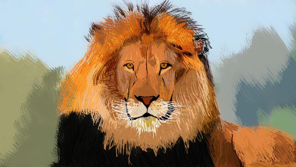 Lion illustration by saltedm8