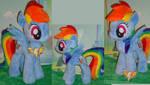 Rainbow Dash Plush and key
