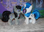 Vinyl Scratch (DJ Pon3) and Octavia pony plush