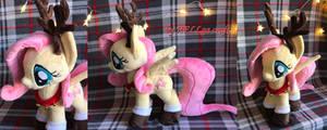 Fluttershy Christmas Deer Plush