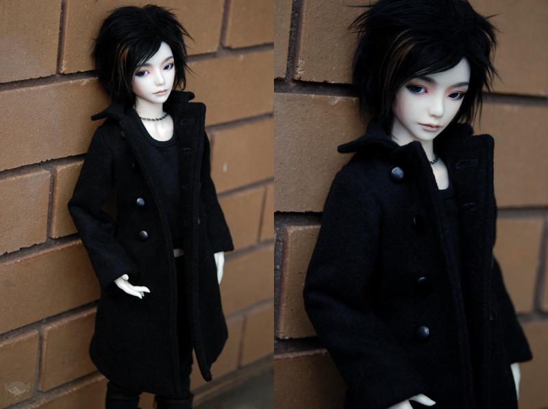 Black Wool Coat by kawaiimon