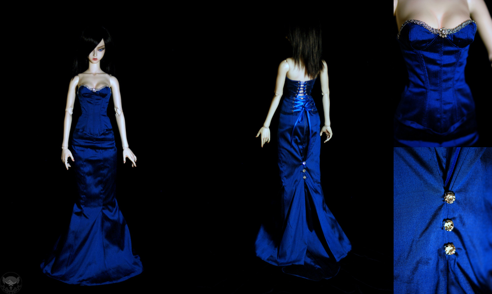 Super Gem Royal Blue Gown by kawaiimon