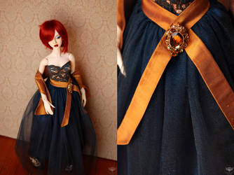Blue and Copper Dress by kawaiimon