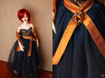 Blue and Copper Dress