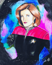 Captain Janeway  by MeadowGriffinArt