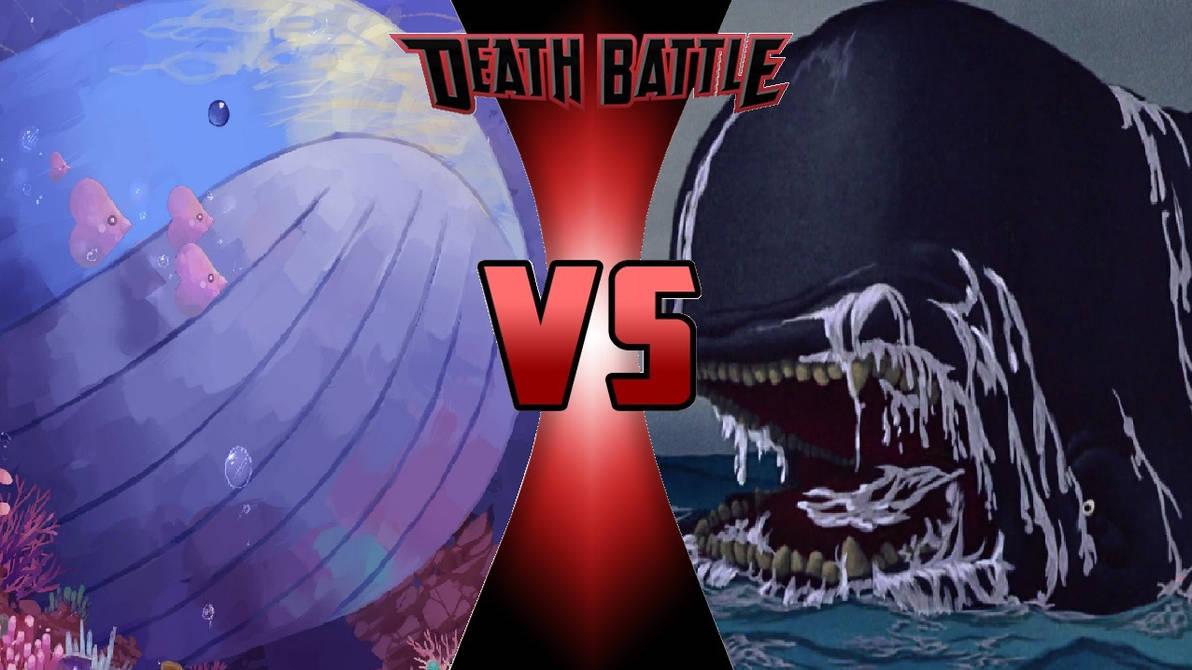Wailord vs. Monstro by OmnicidalClown1992