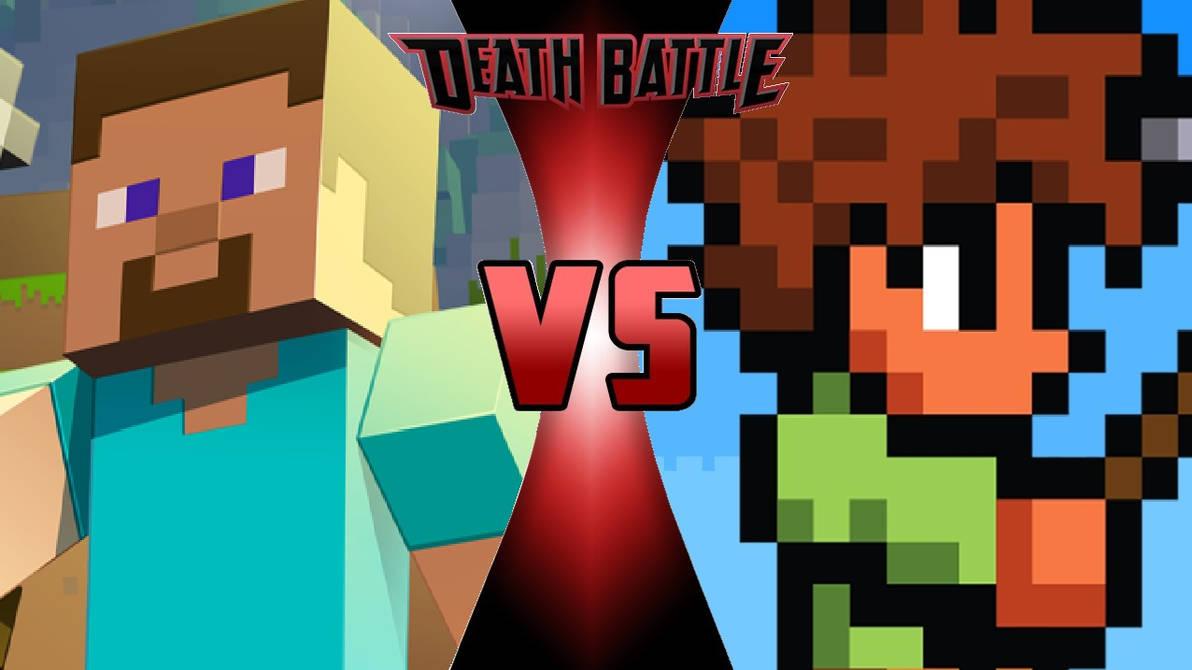 Steve vs  Terraria Guy by OmnicidalClown1992 on DeviantArt