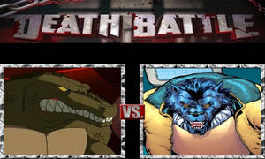 Leatherhead vs. Beast