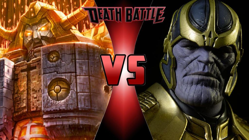 Unicron vs. Thanos by OmnicidalClown1992