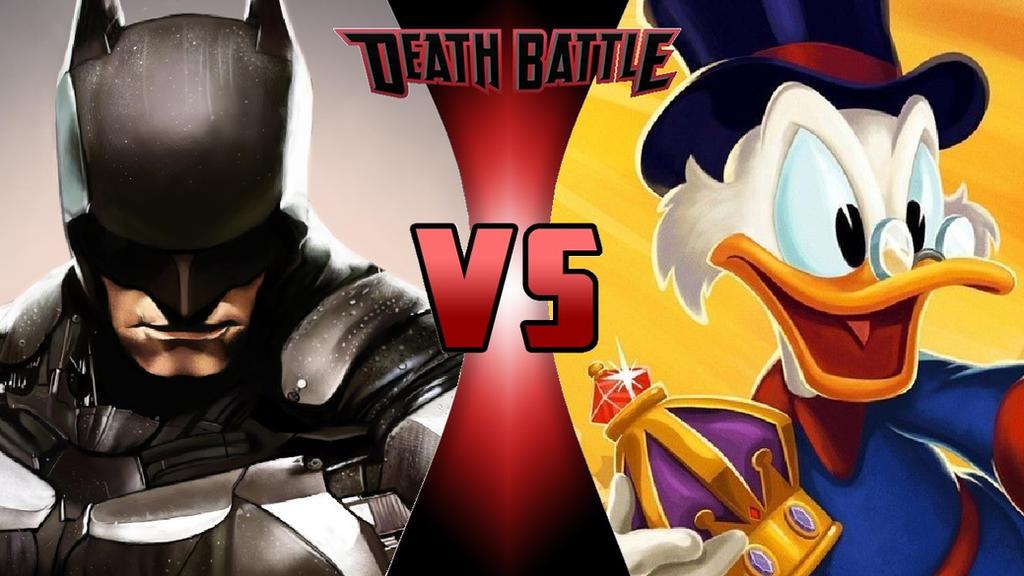 Batman vs. Scrooge McDuck by OmnicidalClown1992