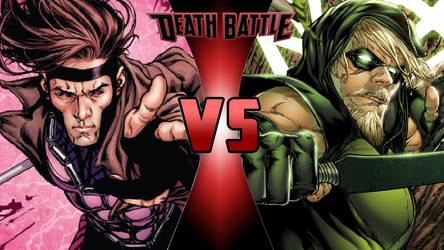 Gambit vs. Green Arrow by OmnicidalClown1992