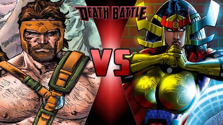 Hercules vs. Big Barda by OmnicidalClown1992