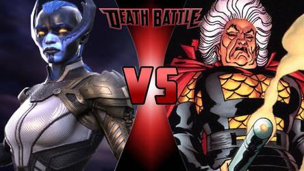 Proxima Midnight vs. Granny Goodness by OmnicidalClown1992
