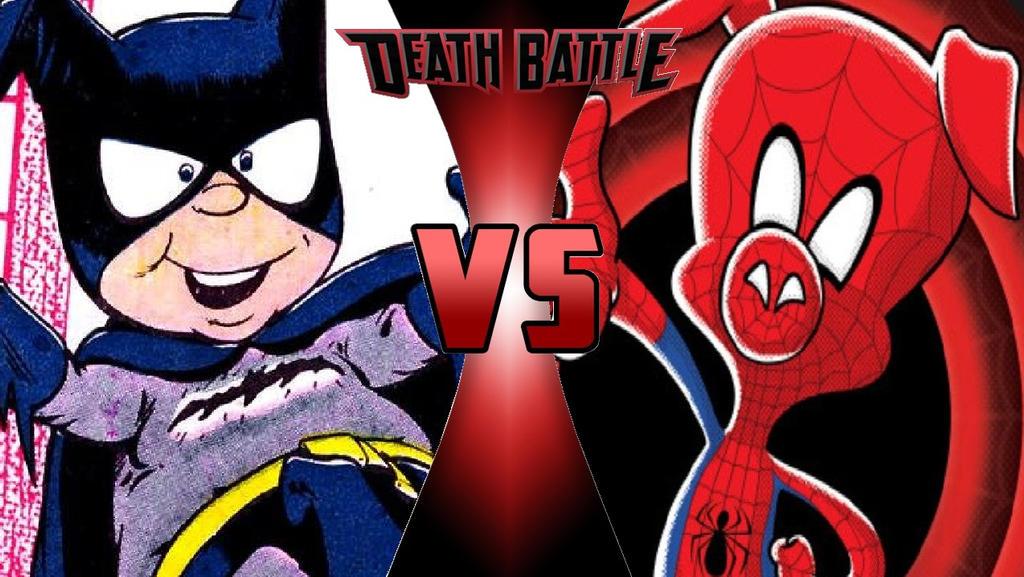 Bat-Mite vs. Spider-Ham by OmnicidalClown1992