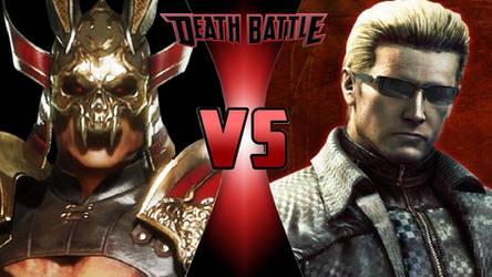 Shao Kahn vs. Albert Wesker by OmnicidalClown1992