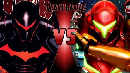 Batman vs. Samus Aran by OmnicidalClown1992