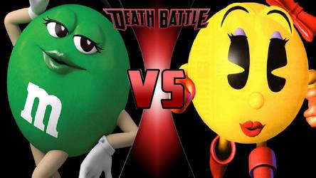 Ms. Green vs. Ms. Pac-Man